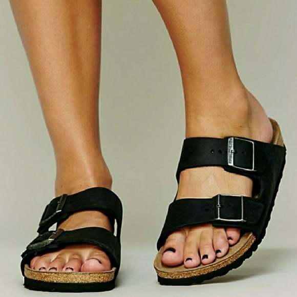 Black Suede Soft Footbed